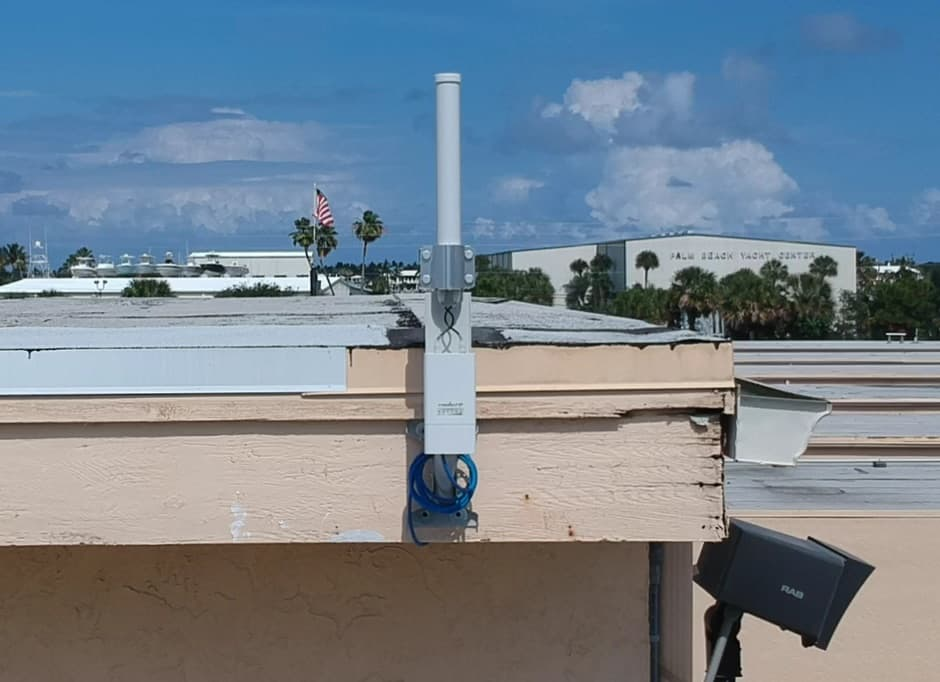 wireless security camera antenna installation