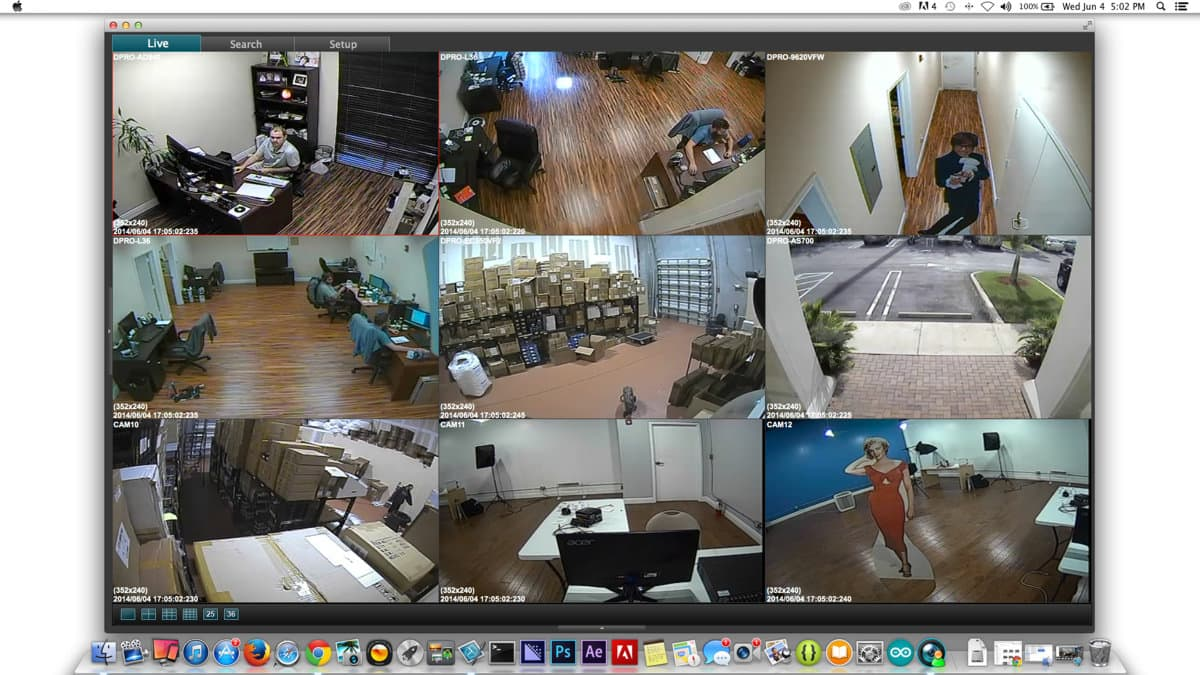 960H Security DVR Systems, CCTV Surveillance Cameras, MAC