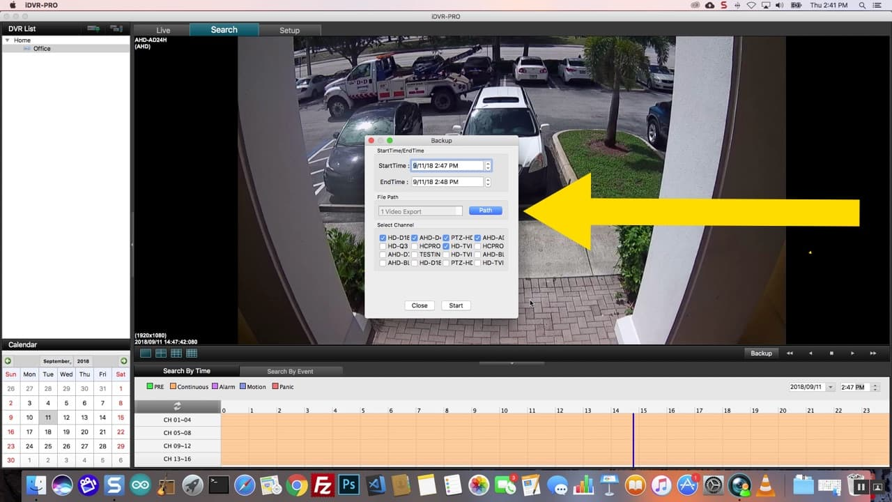 Mac DVR Client Software Remote Internet Backup Video