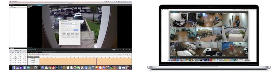 Recorded Video Surveillance Video Export and Playback with Mac Software