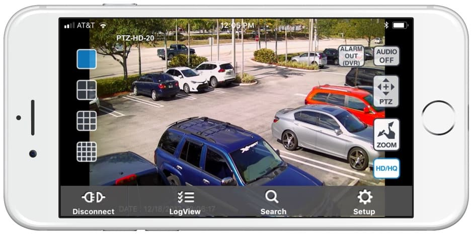 application smartphone camera de surveillance