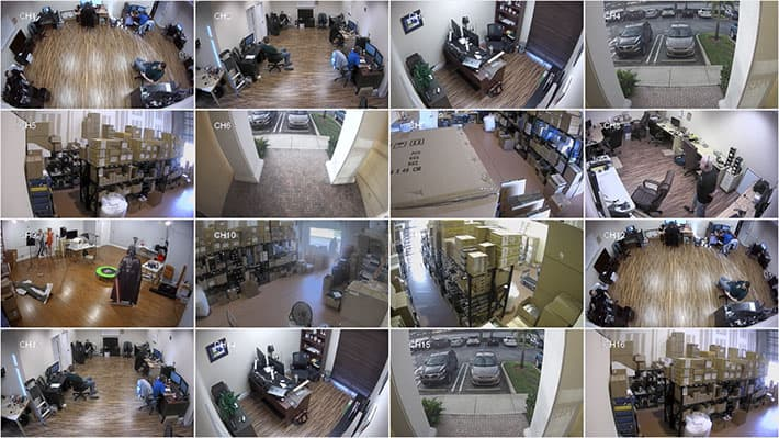 16 Channel HD CCTV Video Multiplexer - 16 Camera View