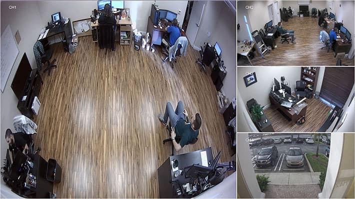 HD CCTV Quad View