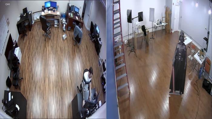 AHD TVI HD CCTV Multiplexer - Dual Screen / 2 Camera View