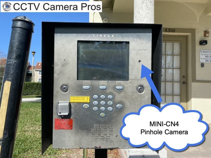 Pinhole Camera for Security Gate Call Box