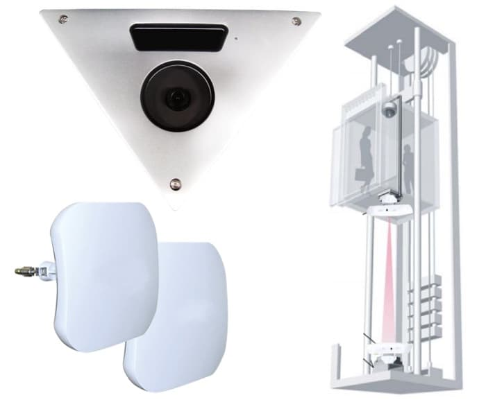 Elevator Camera with Wireless Video Transmission System