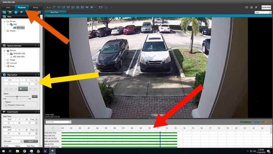Windows CMS Software - Search DVR Recorded Video Surveillance Footage