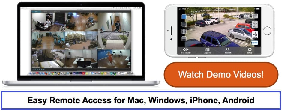 Remote View Security Cameras from iPhone & Android Mobile Apps