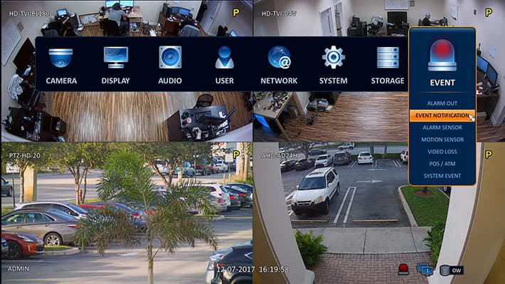 HD Security Camera DVR - Mobile Push Notification Setup Screen