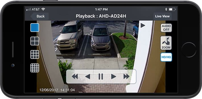 iPhone App Push Notification from Security Camera Motion Detection
