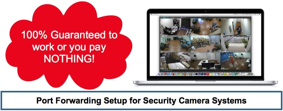 Port Forwarding Network Router Setup, Remote DVR Security Camera