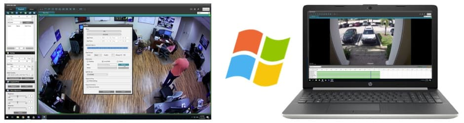 Recorded Video Surveillance Video Export and Playback with Windows CMS Software