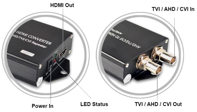 AHD to HDMI Converter BNC Video Input / Output
