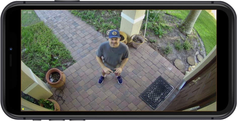 4K IP Camera View from iPhone App