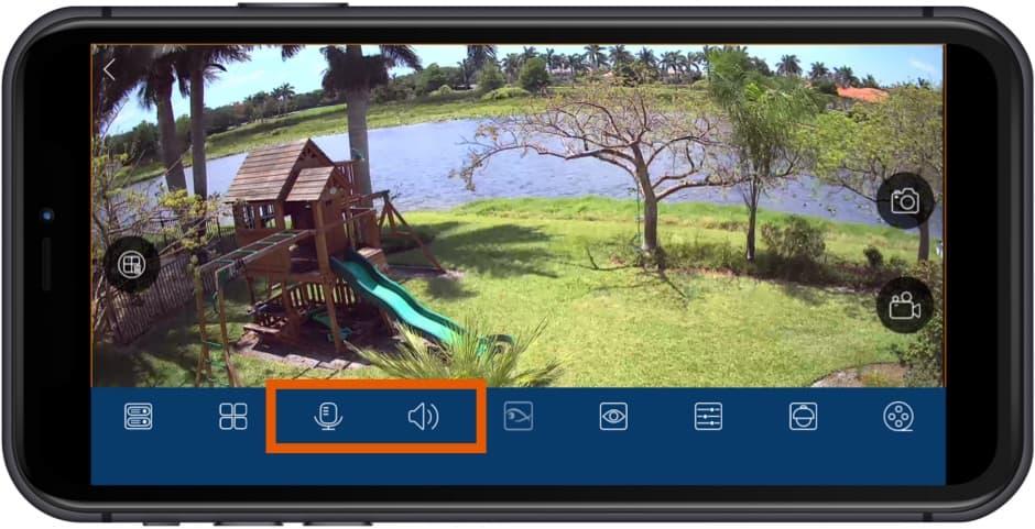 Security Camera iPhone App Audio Surveillance