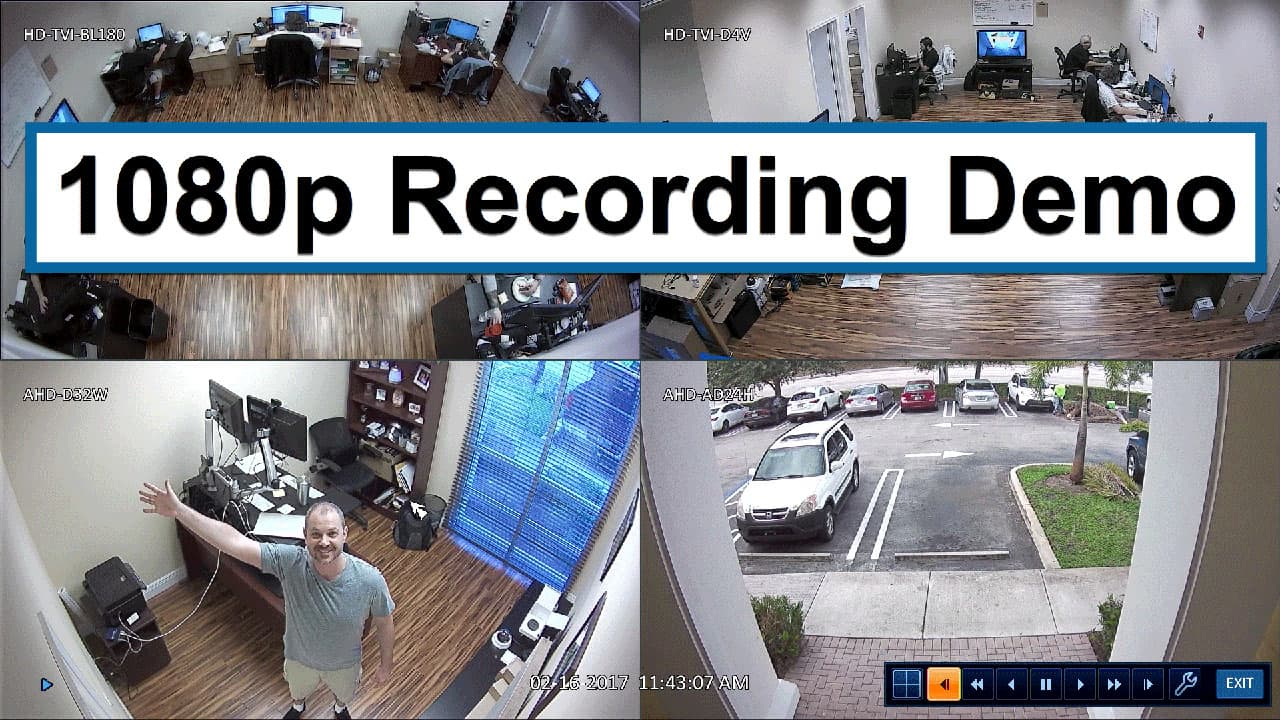 1080p HD Video Surveillance Recording