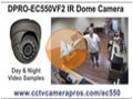 DPRO-EC550VF2 IR Dome Camera Sample Video