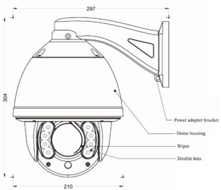 Infrared Ptz Speed Dome Camera Ir Pan Tilt Zoom Camera