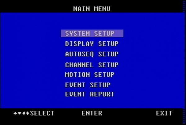 CCTV Quad Time / Date Setup for VM-Q401A