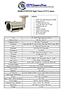 Night Vision Infrared CCTV Camera Data Sheet