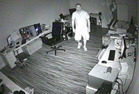 Infrared Security Camera Video Demo