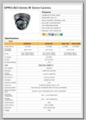 Dome Camera Specification