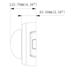 Geovision GV-FD1200 Hard Ceiling Mount Dimensions