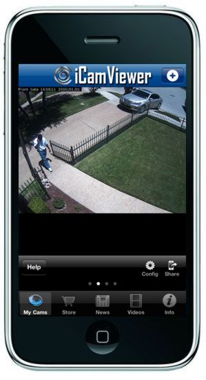 iCamViewer IP Camera iPhone App