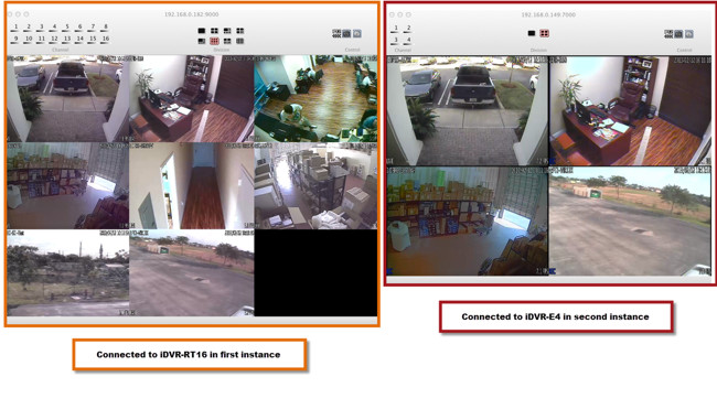 Mac CCTV DVR Software Multiple Location View