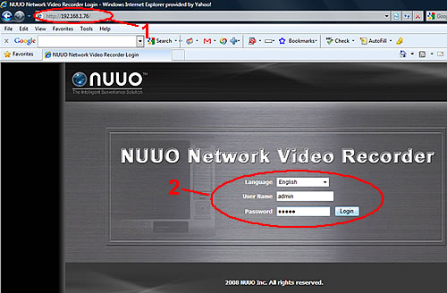 NUUO NVR Video Export Instructions - Step 1