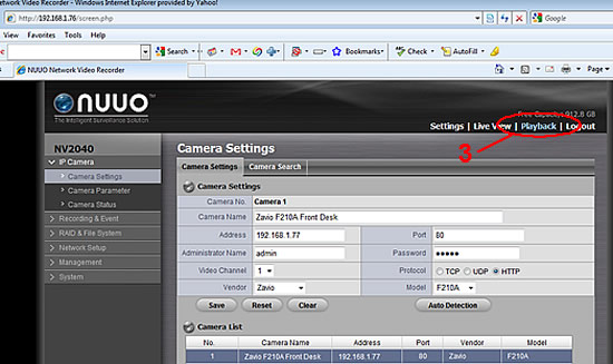 NUUO NVR Video Export Instructions - Step 2