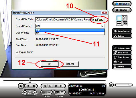 NUUO NVR Video Export Instructions - Step 6