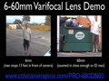 6-60mm Varifocal Lens Video