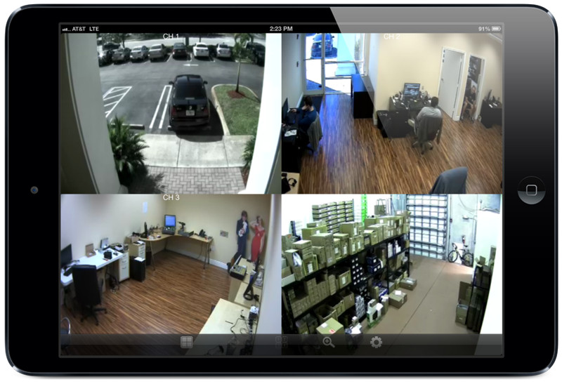 HD-SDI-CCTV DVR Viewer iPad App