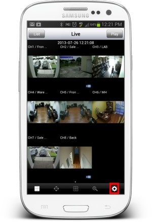Viewtron Surveillance DVR Remote Access Android