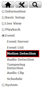 Zavio Camera Motion Detection Setup