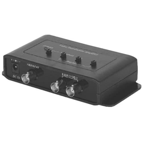 Powered Coax Splitter : Cctv video splitter amplifier channel