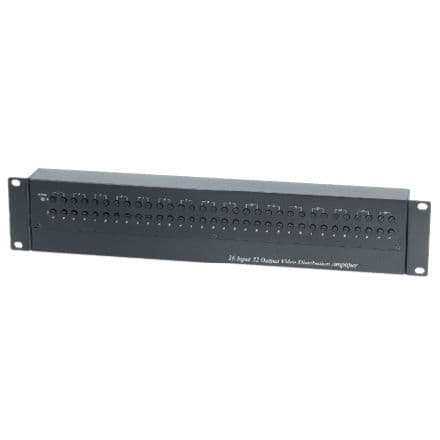 Cctv Video Distribution Amplifier 16 Bnc Inputs To 32