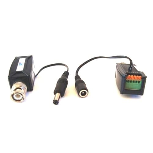 balunpv5 cat5 video balun with power over cat5 for cctv cameras