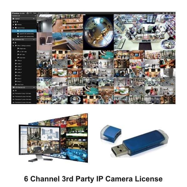 Geovision GV-VMS006 3rd Party VMS Software License, 6 Channels