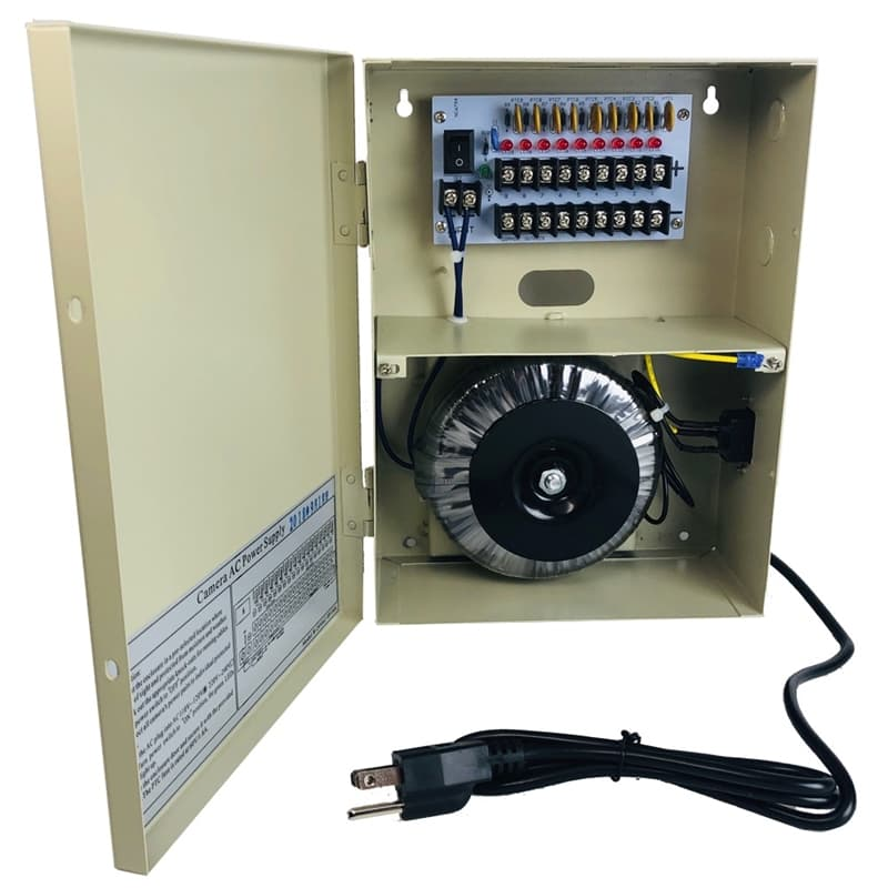 0ebb5eab9ff27 24VAC Power Supply Box for Security Cameras - CCTV