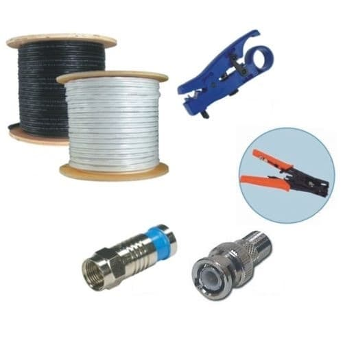 rg59 coax cable installation kit 500 ft rh cctvcamerapros com cctv wiring diagram connection cctv wiring diagram software