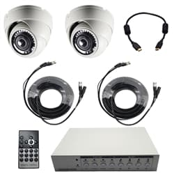 security camera TV display system