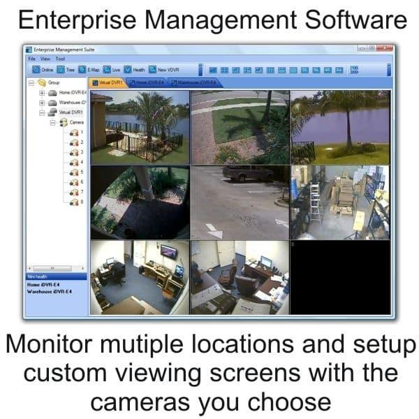 Video Surveillance System, 16 Bullet Cameras, Network DVR, Remote View