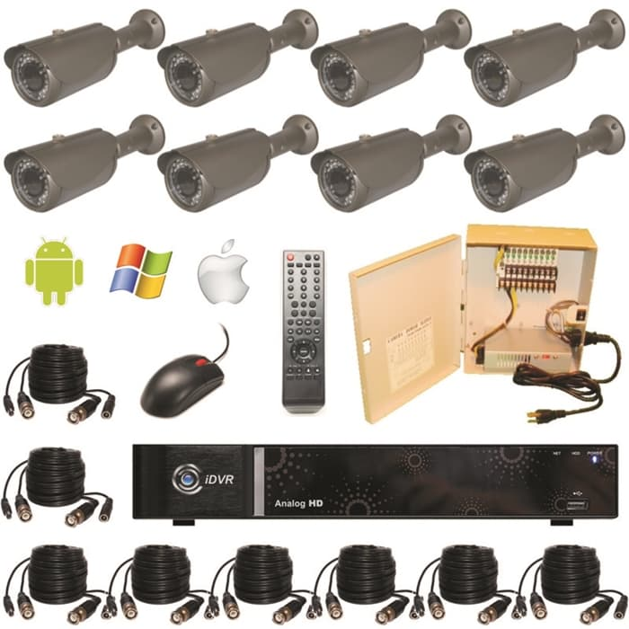 HD DVR Camera System, Weatherproof Infrared CCTV Security Cameras, DVR