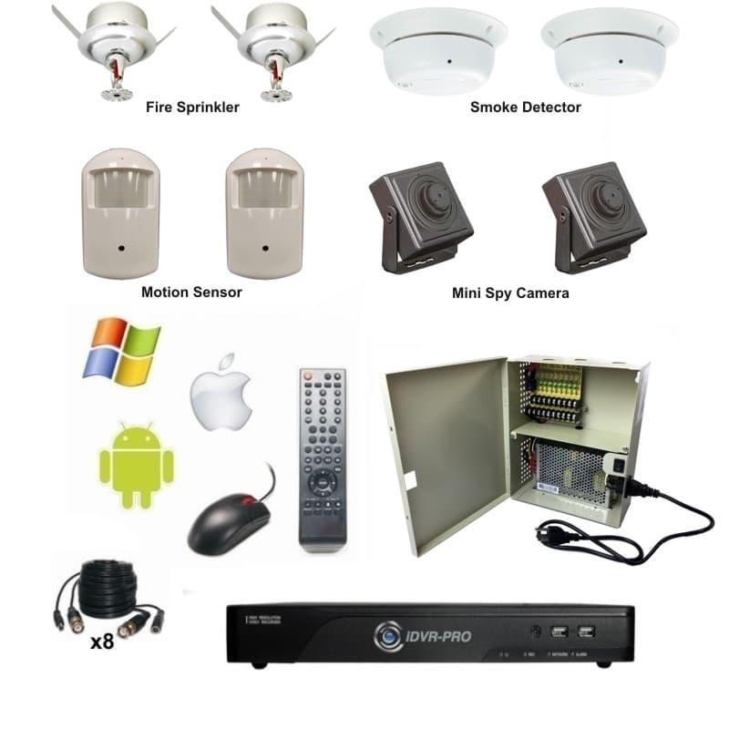 Hdcvi Spy Smoke Detector Camera 720p Hd 3 7mm Nanny Cam Security Cctv