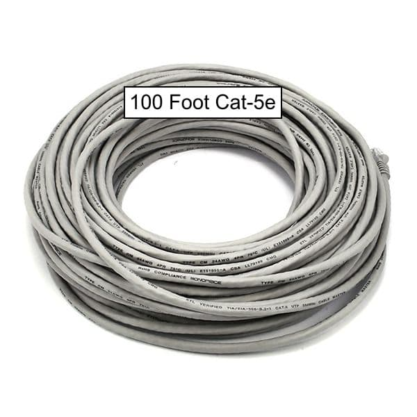 Cat5e Patch Cable 100 Foot Cat 5e Network Cable